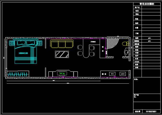 CAD住宅装修施工图方案设计