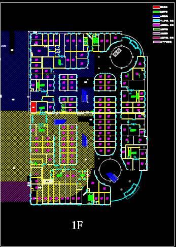 商业建筑CAD平面图之店铺设计