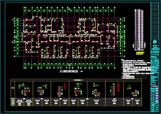 暗桩的CAD结构设计图