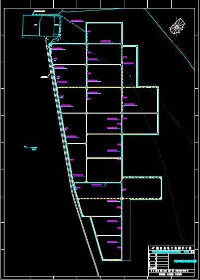 光伏电站的CAD电力控制布置图