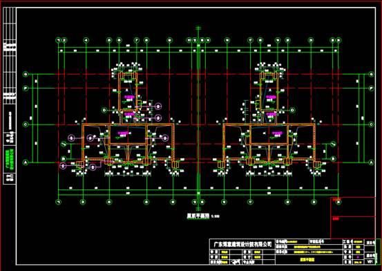宾馆酒店建筑CAD图纸之门廊设计