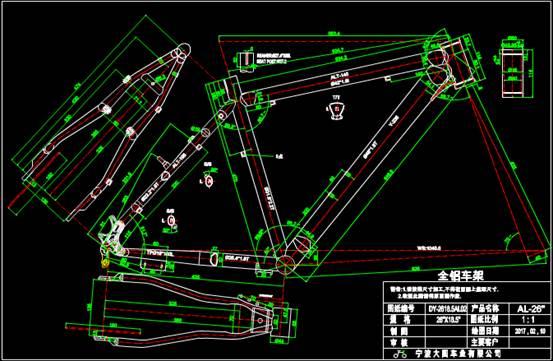 车辆模型的CAD设计图之车架设计