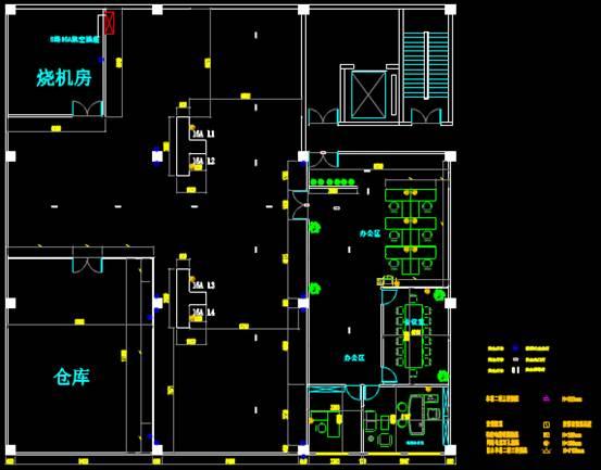 某办公室的CAD办公建筑设计图