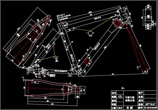 某型号车辆模型的CAD设计图
