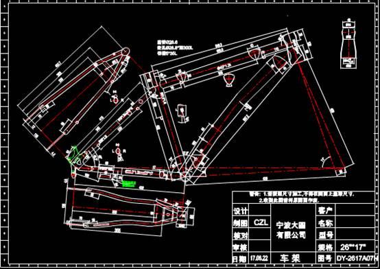 某规格的车辆模型的CAD设计图