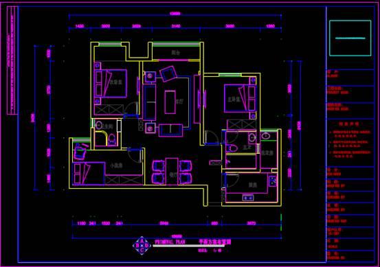 某房屋的CAD住宅装修施工图