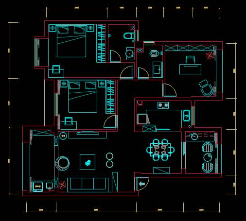 室内CAD住宅装修施工图