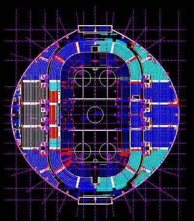 公共建筑CAD布置图之体育馆布置