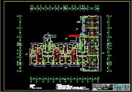 某高层楼房CAD住宅建筑电气图纸