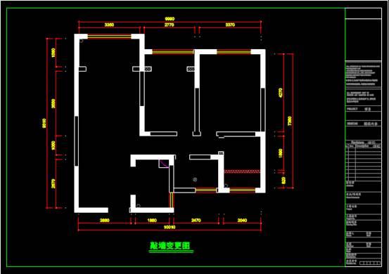 旧房屋的CAD住宅装修施工图