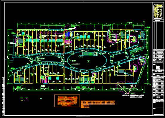某超市的商业建筑的CAD施工图纸