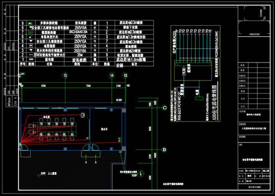 CAD办公建筑设计图之会议室强电设计