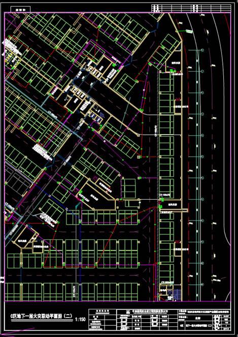 商业建筑地下一层CAD电力控制布置图