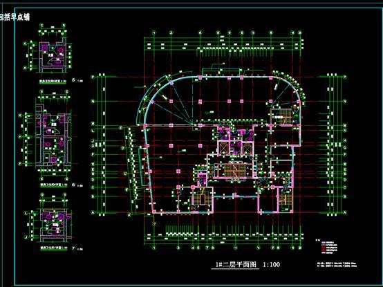 多层CAD办公建筑设计图