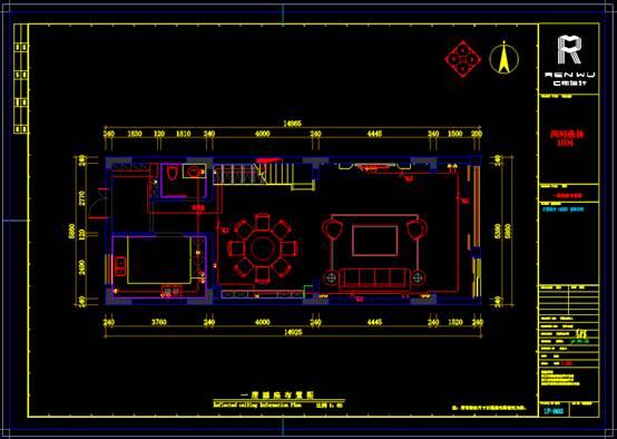 四层房屋之CAD住宅建筑电气图纸