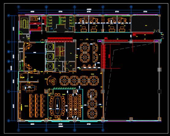 CAD办公建筑设计图之平面布置图