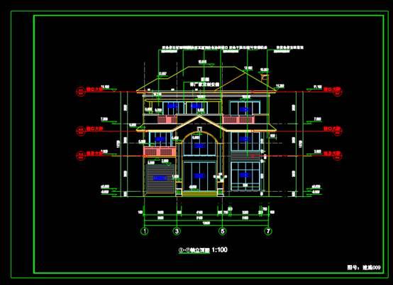 CAD别墅设计图之别墅全套设计