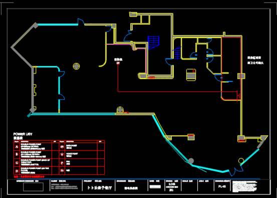 CAD室内设计方案之游乐区和笑脸定位