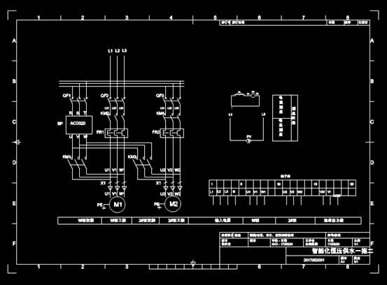 CAD电力控制布置图之合肥开山空压机