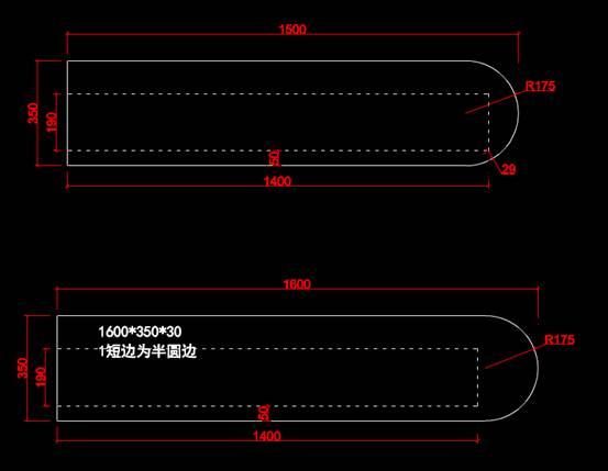 CAD家具设计图纸之双抽电视柜