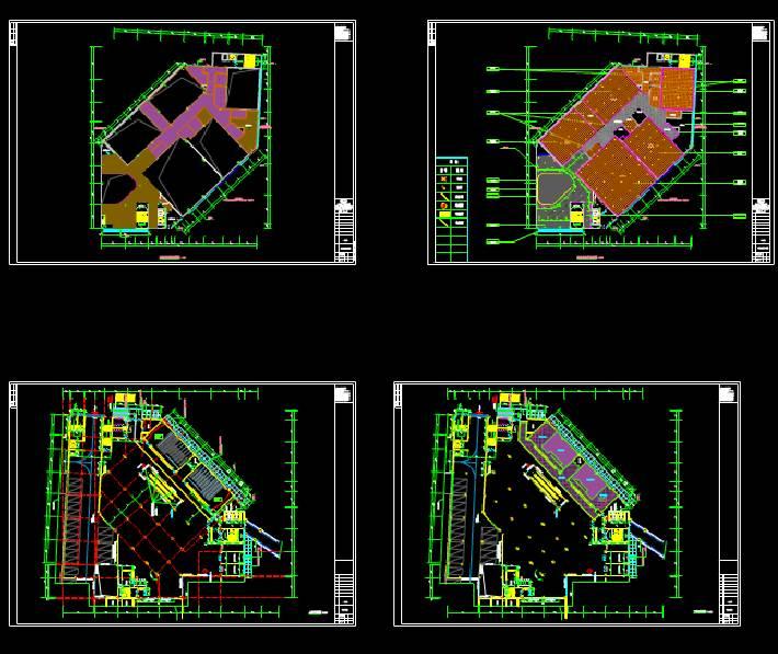装饰设计CAD施工图之平面施工图