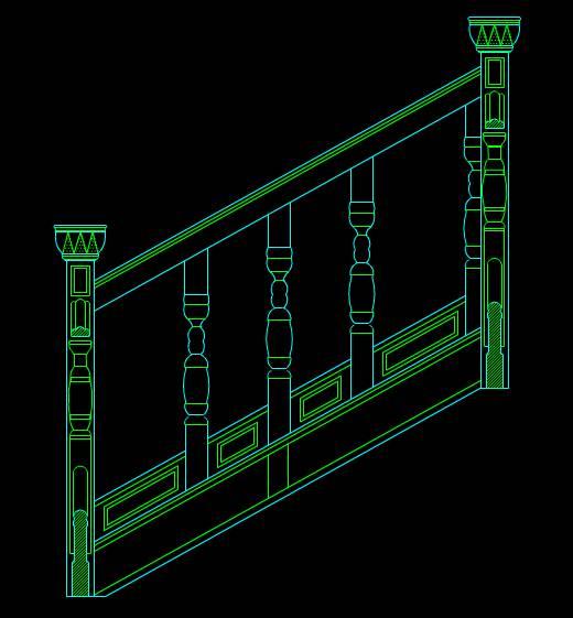 装饰设计CAD图纸之楼梯三维图
