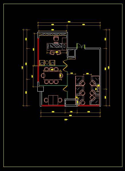 CAD家具设计图纸之办公室家具布置