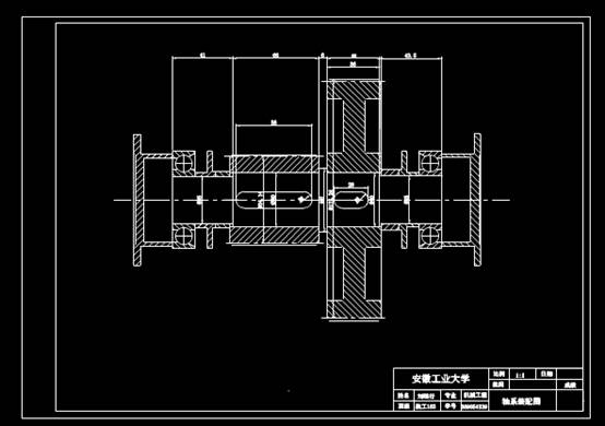 CAD机械设计图纸之中间轴