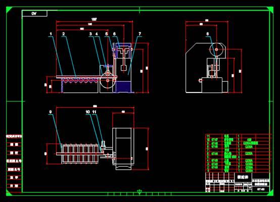 机械CAD图纸怎么看之辊自动送料
