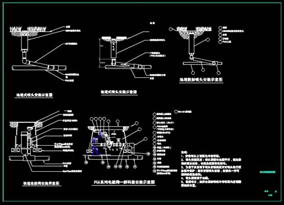 CAD机械设计图纸之绿化浇灌系统设计