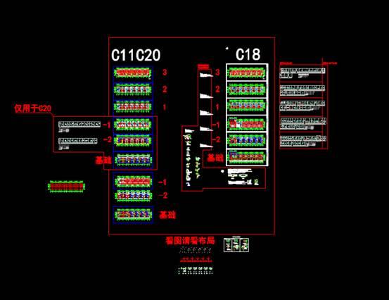 CAD别墅设计图之联排结构图