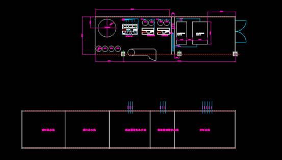 CAD图纸绘制之净环超滤加药间