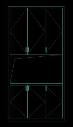 CAD机械制图图纸下载之门口柜子