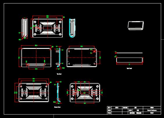 CAD机械设计图纸示例展示图