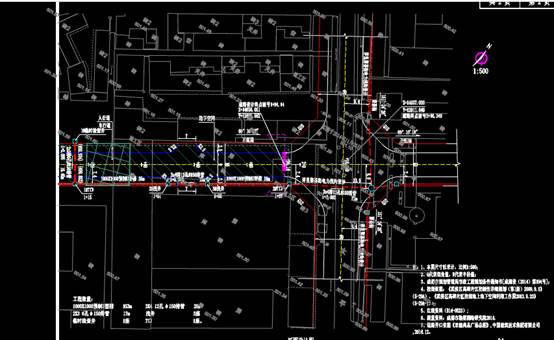 某路电力沟平面电气CAD布线图