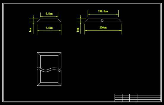 CAD机械制图之尼龙导向板