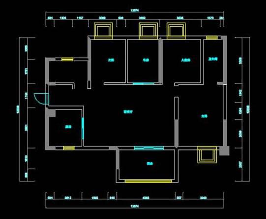 某住宅的CAD平面布置设计图纸