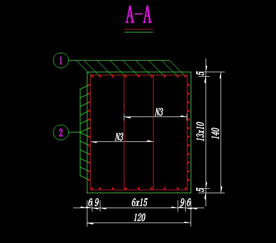 结构设计CAD图纸-水库中桥桩基系梁钢筋构造图