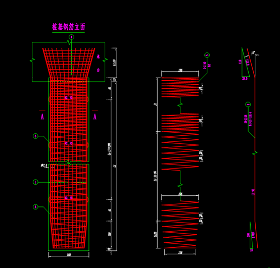 结构设计CAD图纸-水库中桥桥台桩基钢筋构造图