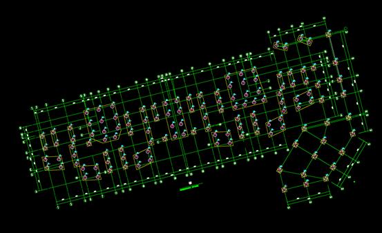 桩号的结构设计CAD图
