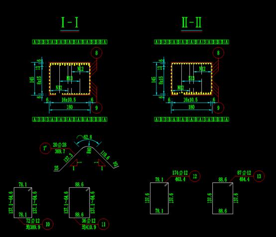 结构设计CAD图纸-水库中桥桥墩盖梁钢筋构造图