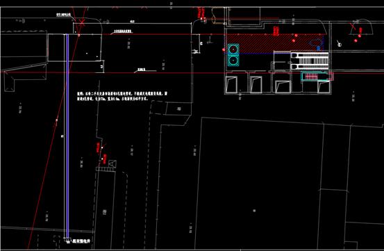 10KV管道二手车交易市场永久管道的CAD建筑电气占地图