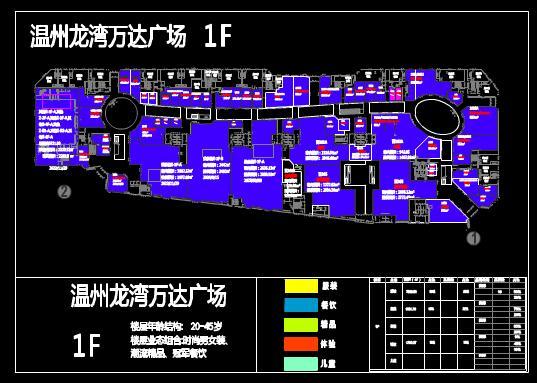 某商业广场建筑一楼的CAD平面布局图纸