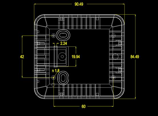 壳子的CAD机械尺寸图纸