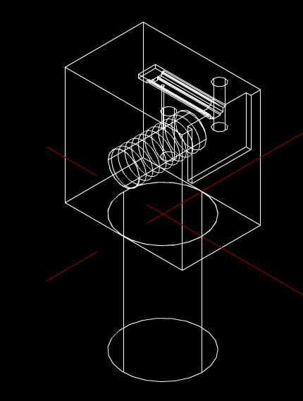 取料定位治具的CAD机械图