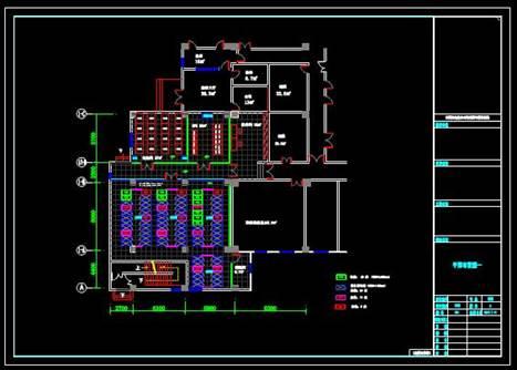某地区公安办公室的CAD平面布置设计图纸