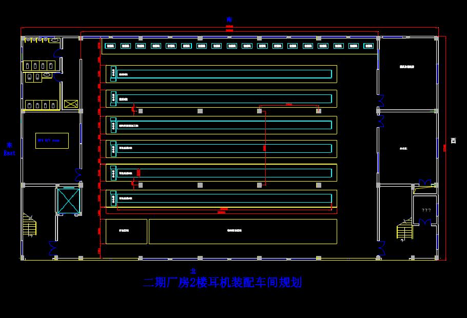 二期厂房的CAD方案设计图纸