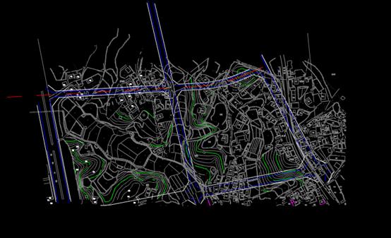 某地的CAD规划图