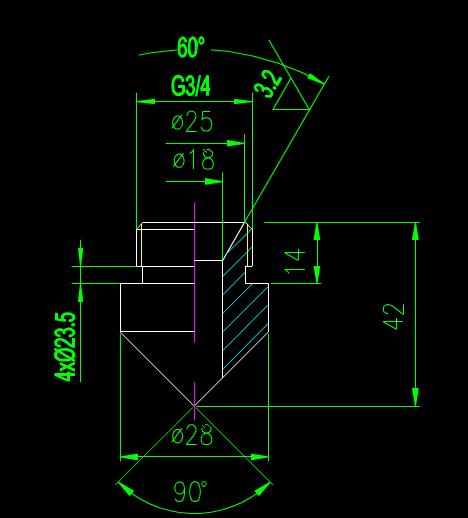 CAD机械尺寸大样图