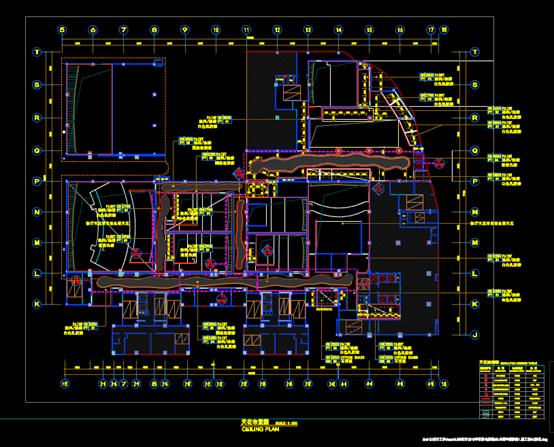 影城的商业建筑CAD平面图